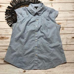 Talbots Sleeveless Button Up Pleat Top Size 16